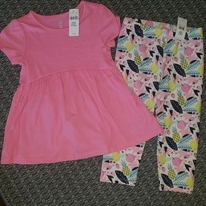 Baby Gap Capri legging and shirt set